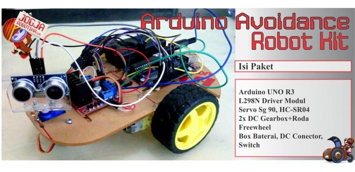 Jual arduino avoidance robot kit