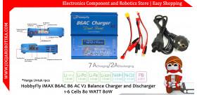 HobbyFly iMAX B6AC B6 AC V2 Balance Charger and Discharger 1-6 Cells 80 WATT 80W