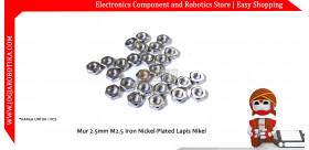 Mur 2.5mm M2.5 Iron Nickel-Plated Lapis Nikel