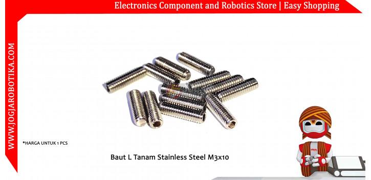 Baut L Tanam Stainless Steel M3x10