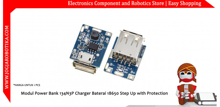 DIY Powerbank Power Bank Charger Module Dual USB Output 5V 2A with LED Indicator