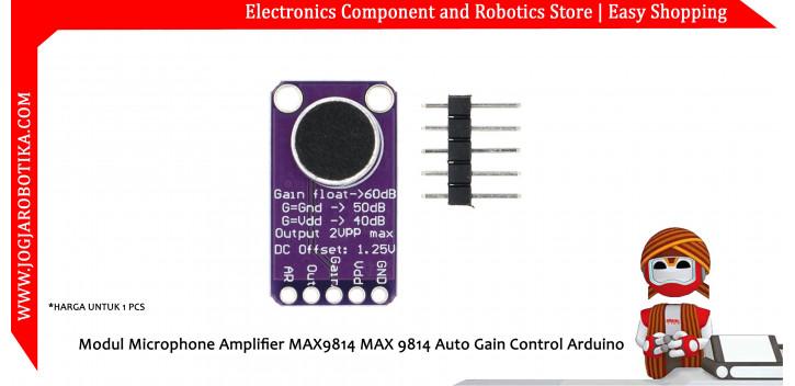 Modul Microphone Amplifier MAX9814 MAX 9814 Auto Gain Control Arduino
