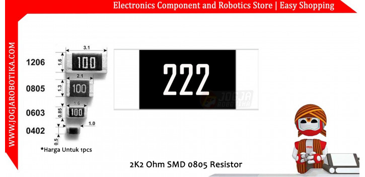 2K2 Ohm SMD0805 Resistor