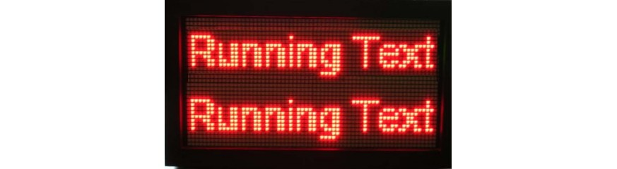 Running text , Jam digital