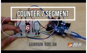 Counter Seven Segment dengan Arduino Uno R3