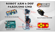 ROBOT TANGAN ARM KIT 6DOF ARDUINO UNO