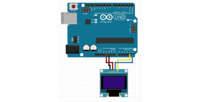 Tutorial OLED I2C dengan Arduino UNO Library SH1106 h